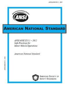 ANSI Z15 2012 cover