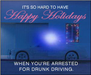 happy holidays buzzed driving